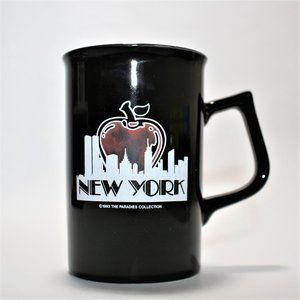 NEW YORK Black Coffee Mug With New York City Print